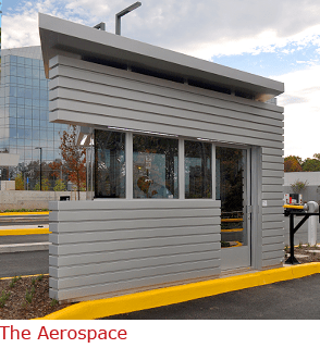 The Aerospace - Custom Parallelogram-Shape Guard Booth