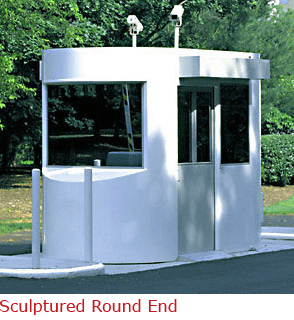 Sculptured Round End - Stylish Entrance Control Booth