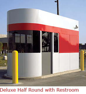 Half Round Style Booth with three tone paint finish