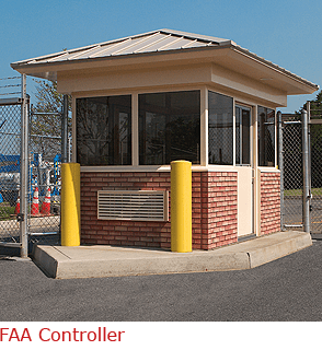 FAA Controller - Guard Booth with Thin Brick Veneer