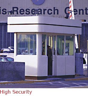 Security Booth with Stainless Steel Floor