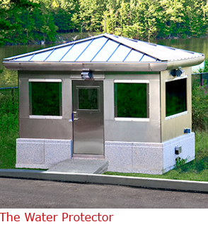 The Water Protector - Stainless Steel Guard Booth