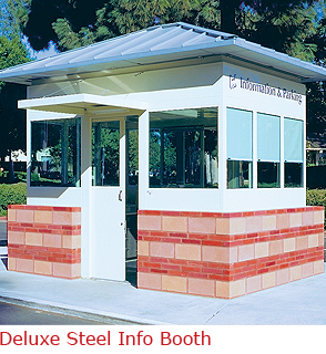 Deluxe Steel Info Booth - Informational/Parking Booth