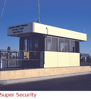 Super Security - booth with Interior and exterior lights