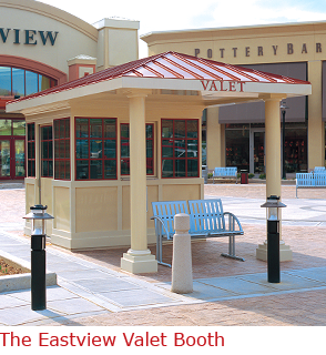 Valet parking booth  with Architectural columns